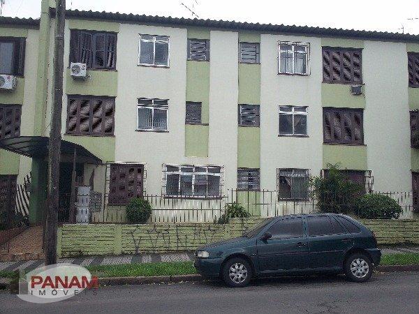Apartamento para venda no bairro Parque dos Mayas, em Porto Alegre.  Excelente apartamento térreo, semi mobiliado, com pátio, totalmente reformado, com 2 dormitórios, living com 2 ambientes, área de serviço e lavanderia.