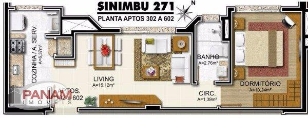 Apartamento para venda no bairro Petrópolis, em Porto Alegre.  Excelente apartamento para venda de 1 dormitório, banheiro social, living com 2 ambientes, churrasqueira,,copa,cozinha, área de serviço e 2 vagas de garagem.  Em construção, entrega prevista para dezembro de 2016. (valor referente ao apartamento 402)